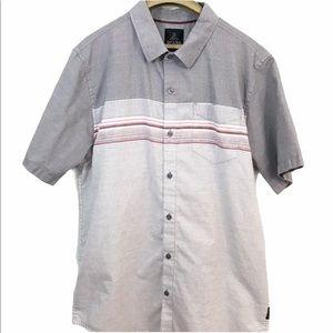 Prana Short Sleeve Button Front Striped Shirt